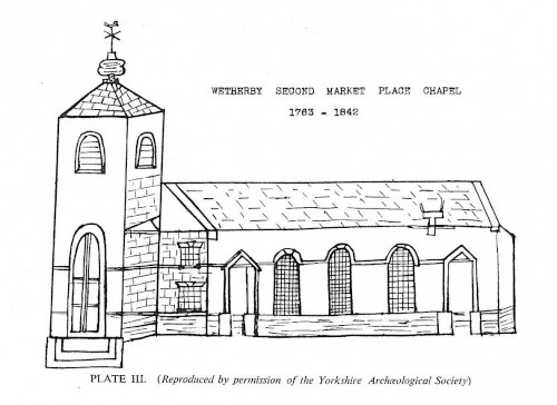 Old sketch of the second market place chapel 1763-1842