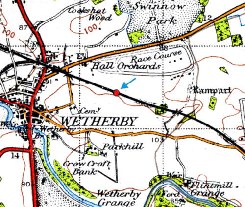 Map showing the location of the station site