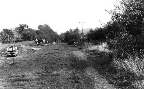 View of the site when it was being worked on to become the BMX track