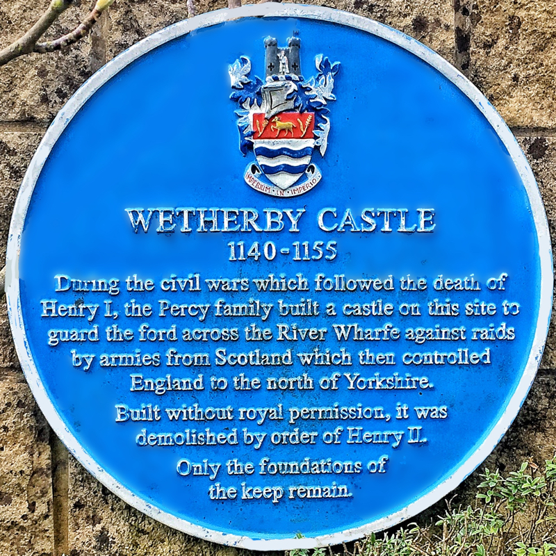 Photo of Wetherby Castle Plaque - Text below