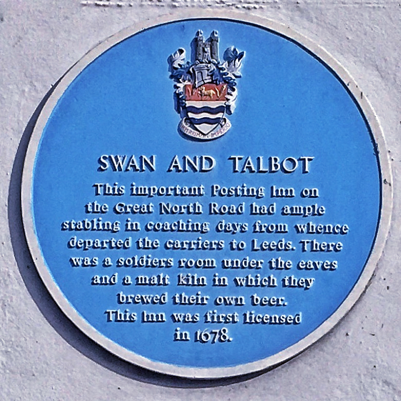 Photo of Swan And Talbot Blue Plaque - text below