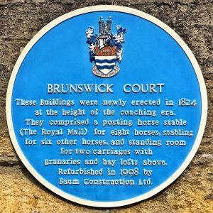 Blue Plaque of Brunswick Court