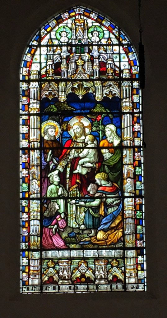 Phot of the the Stained Glass in the West window