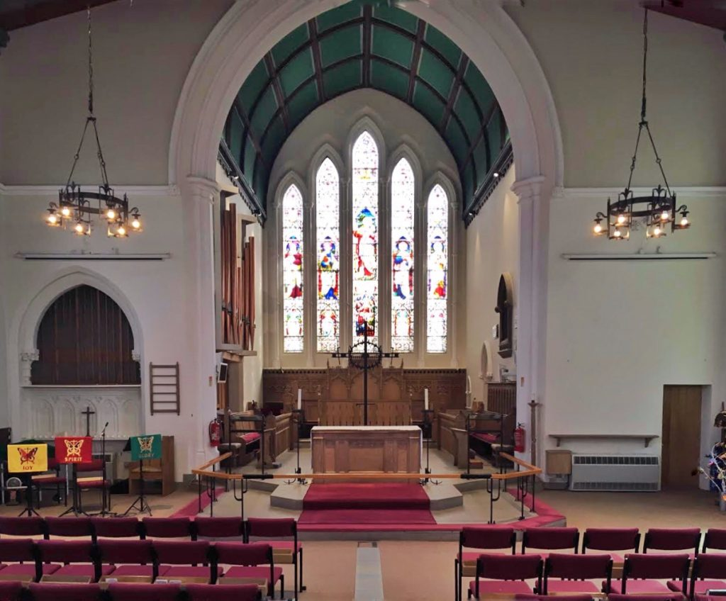 Photo of the nave and chancel of St. James'