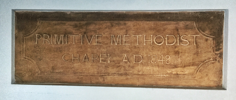 Photo of Primitive Methodist Chapel Foundation Stone AD1884 now in the Methodist Church