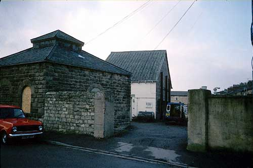 Photo of site before demolition