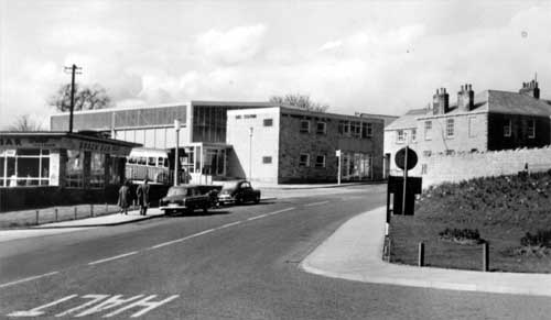 Undated Image shows a view of the snack bar with the bus station behind on Market Place, looking from the junction with Wetherby Bridge and High Stree