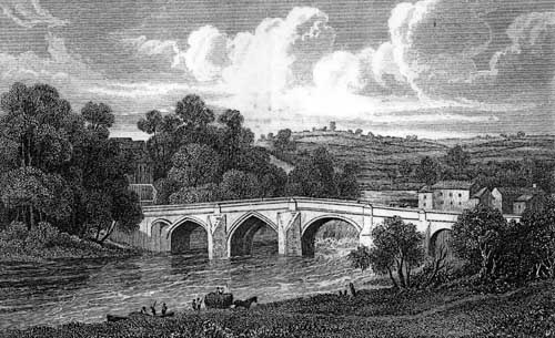 1829 engraving of Wetherby Bridge