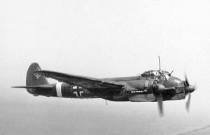 A picture of a Ju 88A over France in 1942