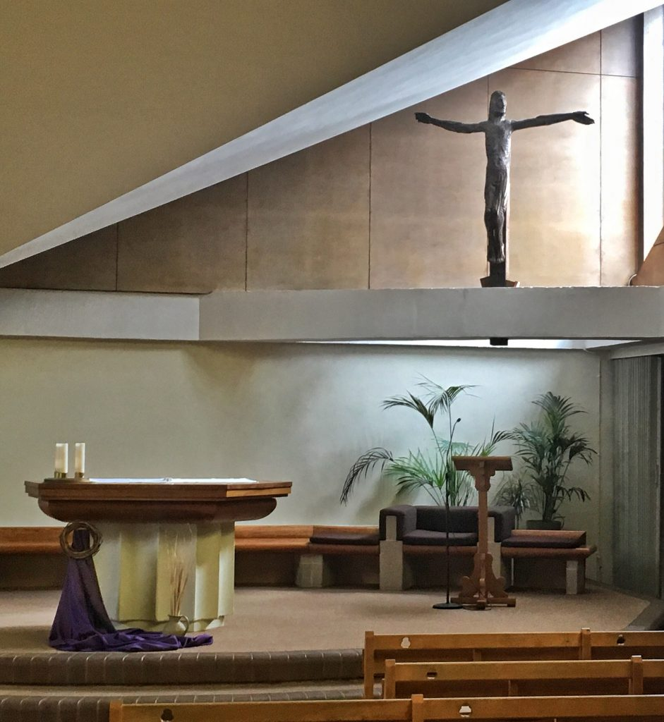 Photo of the Altar with Crucifix above