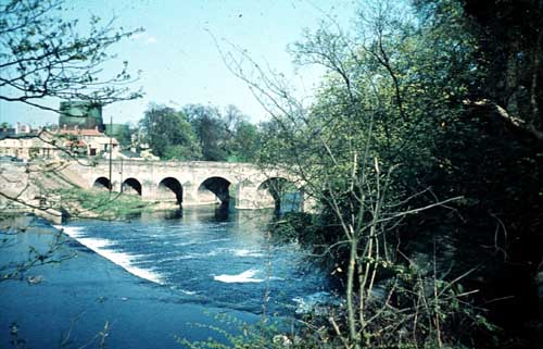 Wetherby bridge with a view of the gas towers