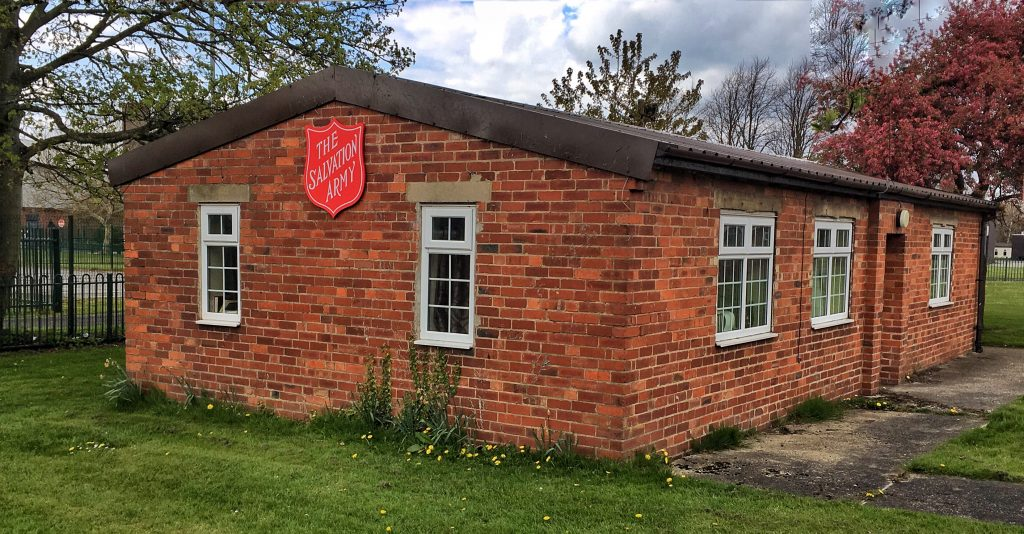 Photo of one of the Huts used by Salvation Army