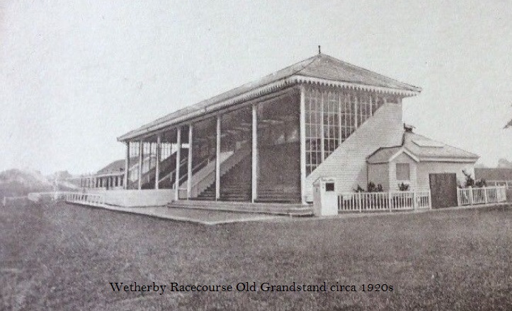 Wetherby Racecourse old grandstand 1920's