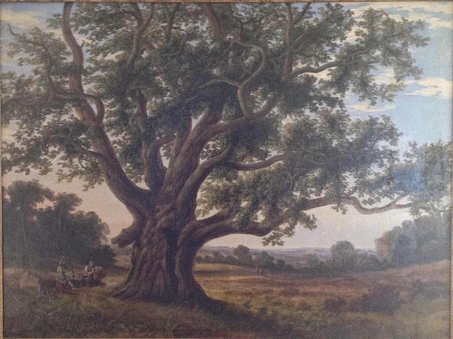19th Century Oil Painting of Cowthorpe Oak unknown artist.