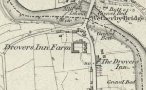 Map showing the location of The Drovers Inn