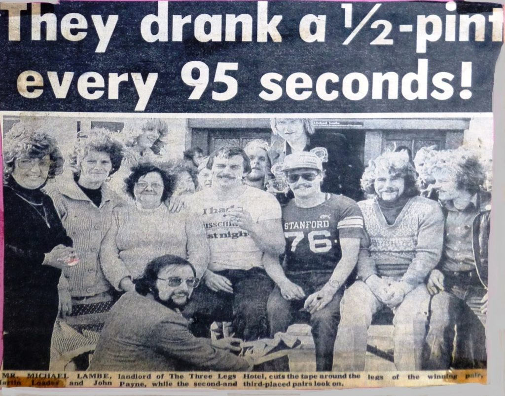 They drank a half pint every 95 seconds 1979