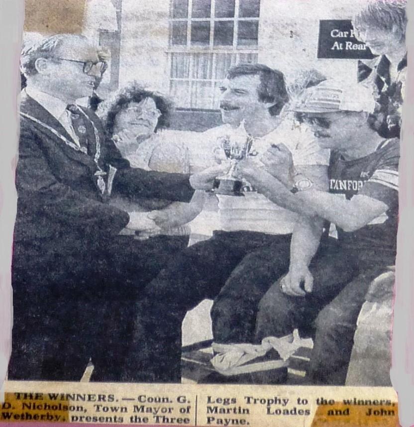Three Legs Trophy presentation 1979