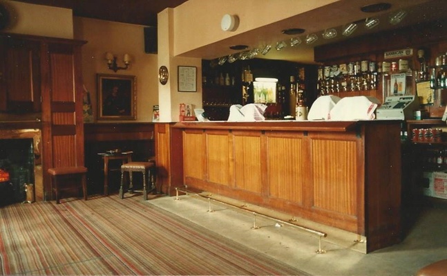 The Three Legs wooden paneled Bar -  Copyright:Wetherby Historical Trust