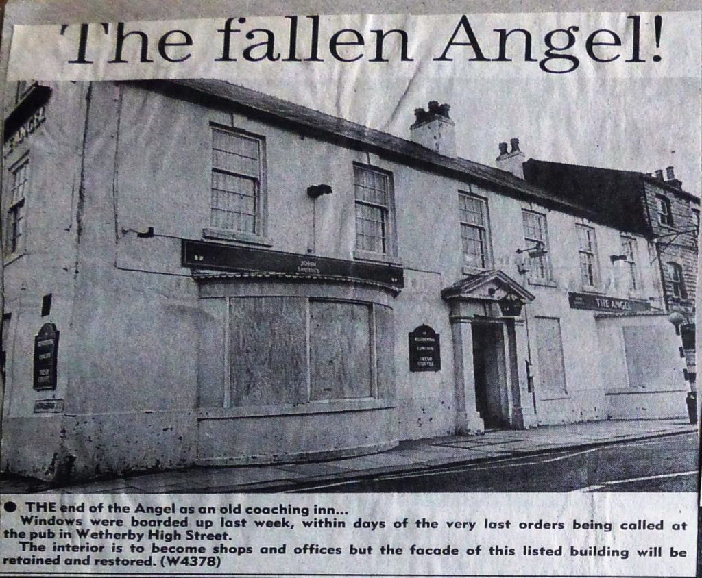 Wetherby News - Angel boarded up 1990 – 1