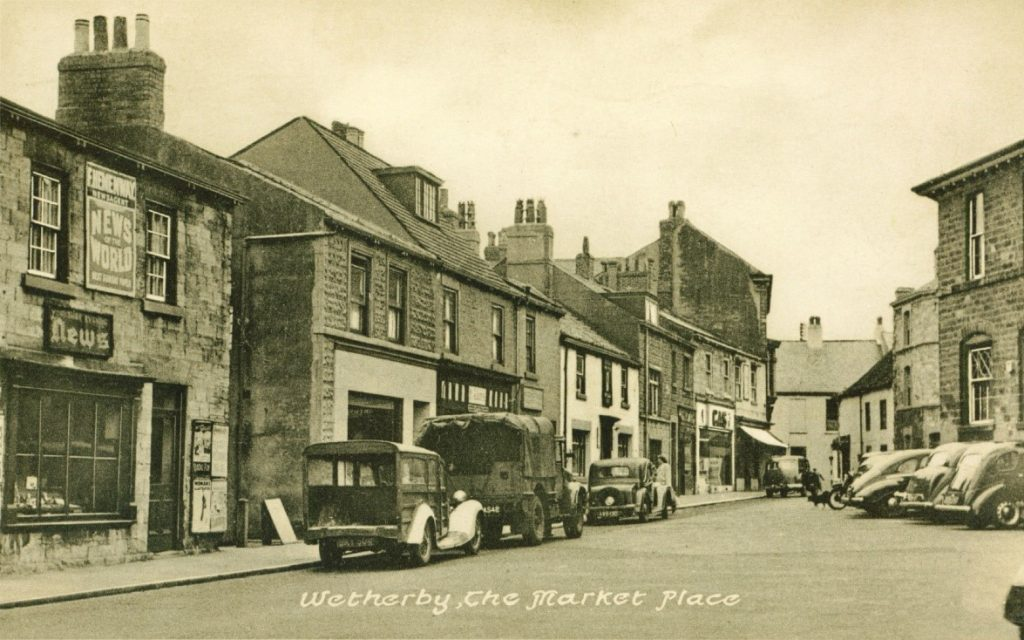 The Black Bull in the Market Place in the 1950's Copyright:Wetherby Historical Trust