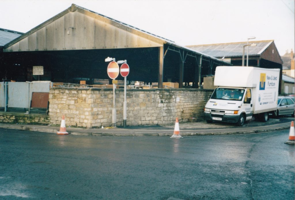 Cattle Market as seen from corner of Hallfield Lane and Horsefair. Now the site of M&S Foodhall.