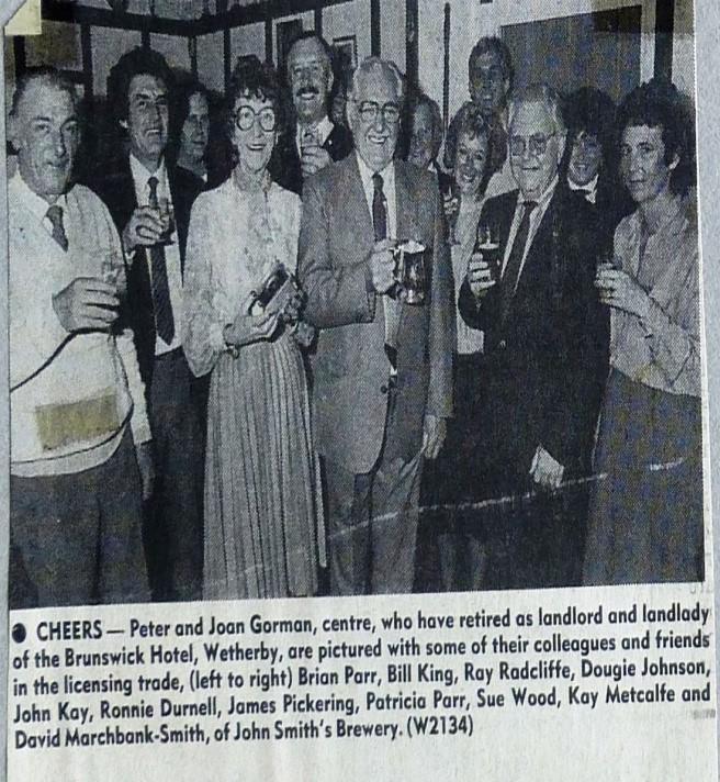 Landlord Peter Gorman retires 1986
