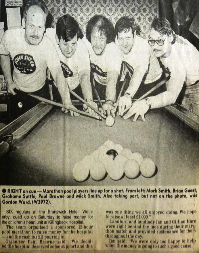 Marathon pool for charity 1989