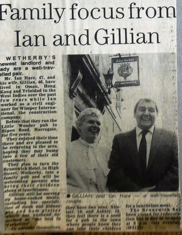 New Landlord Ian Hare 1986