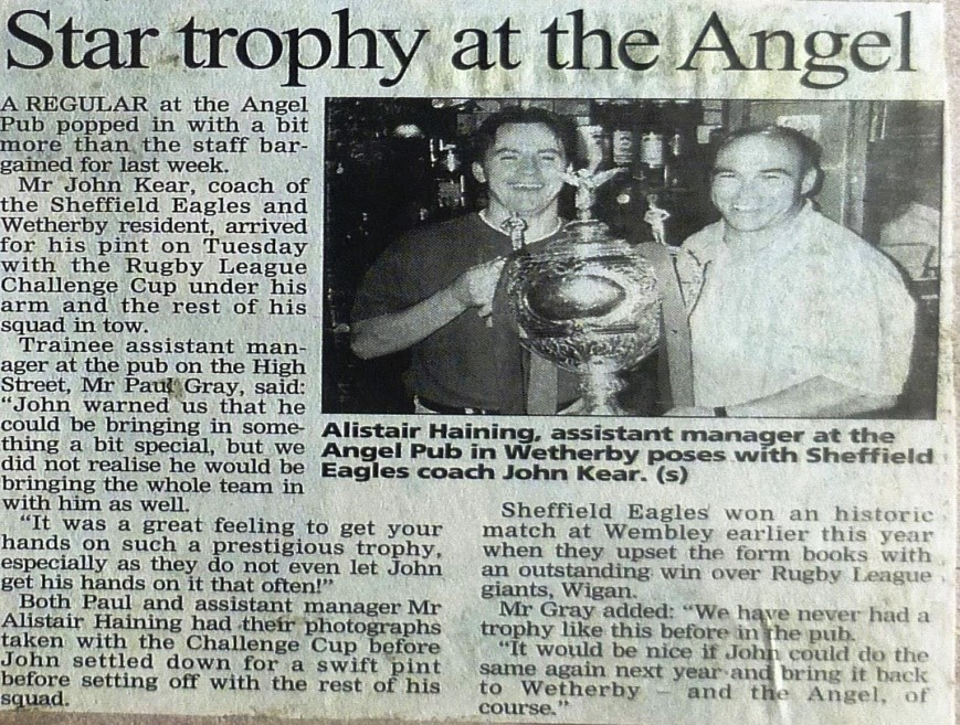 Wetherby News - Rugby League Challenge Trophy at Angel 1998