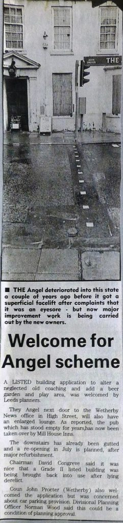 Wetherby News - Welcome scheme for Angel 1995