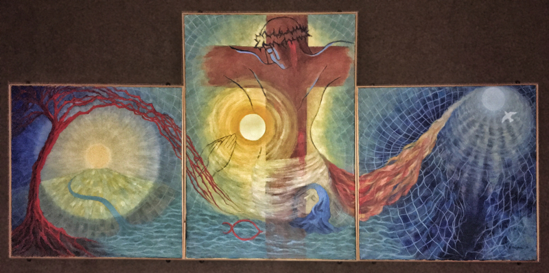 3 panel Blessed Trinity picture by Betty Naughton