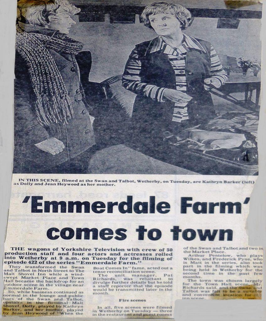 The Swan & Talbot becomes the Malt Shovel in Emmerdale Farm in 1978