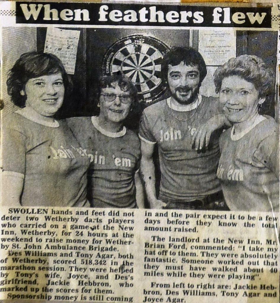 Darts Marathon 1985  Wetherby News