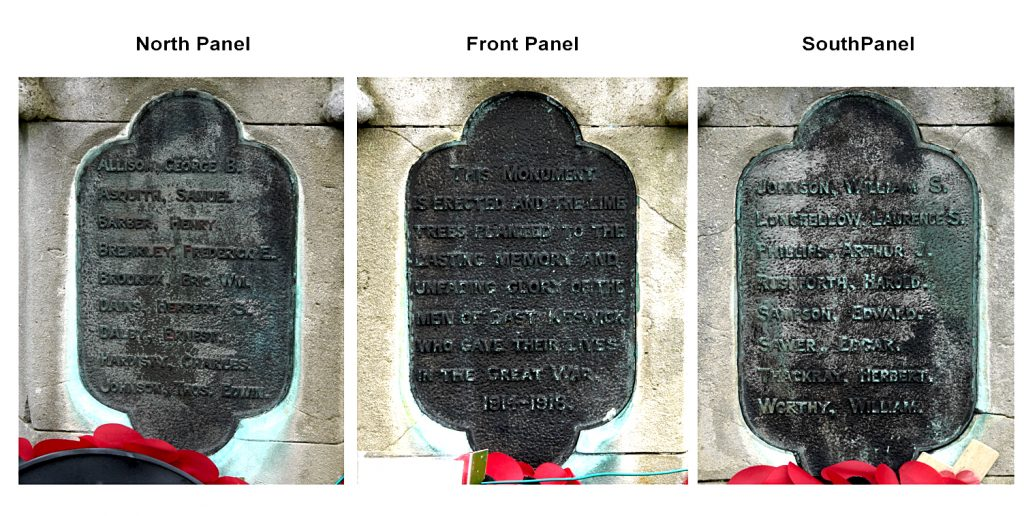 East Keswick War Memorial Panels