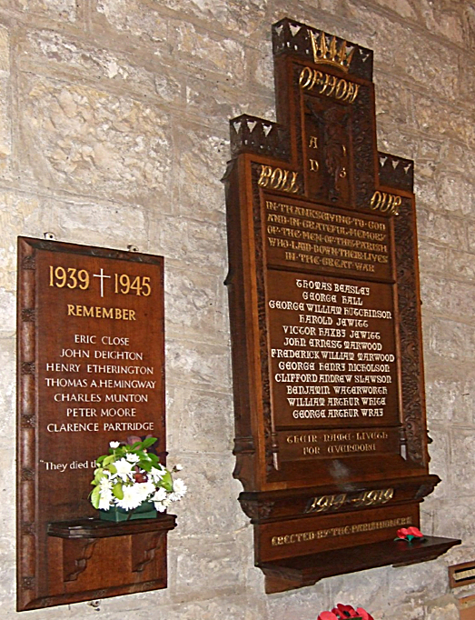 Kirk Deighton Roll of Honour (Church)