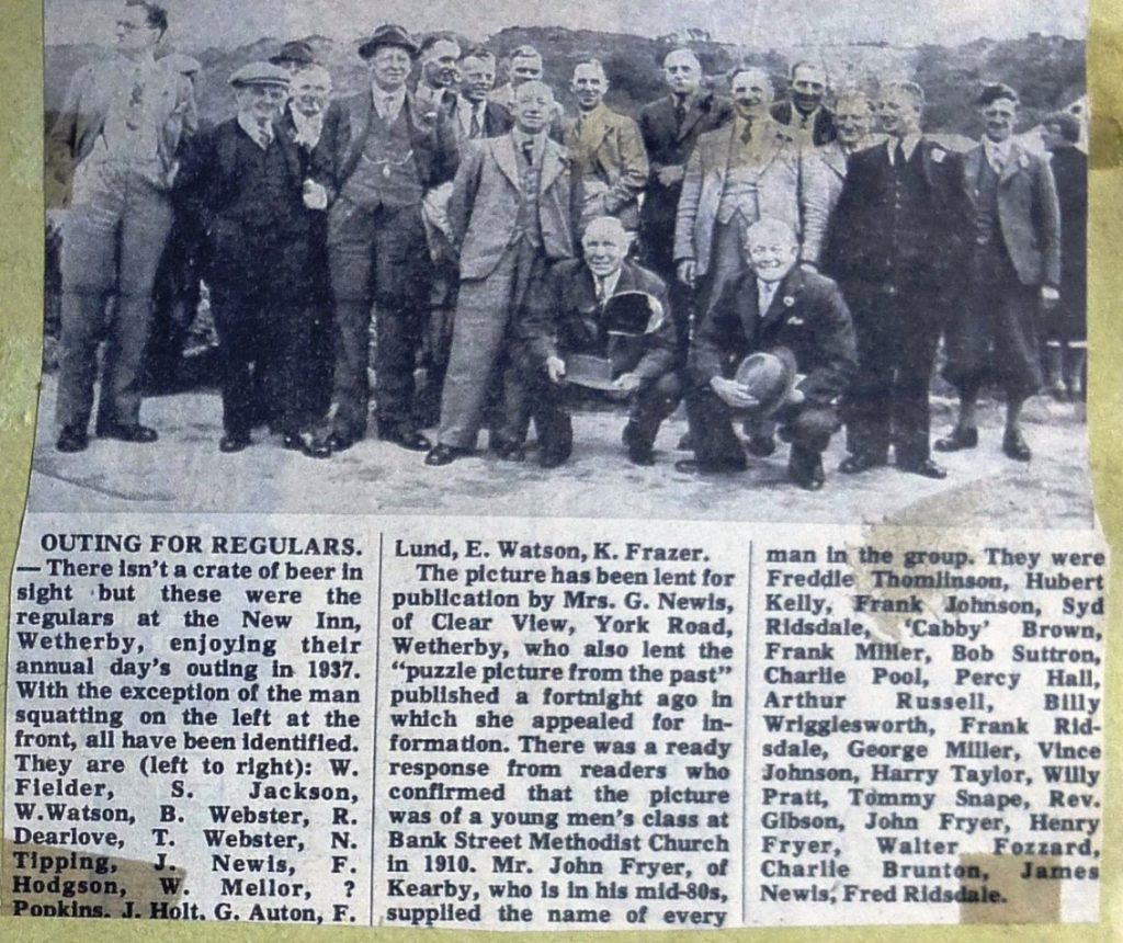 New Inn Outing in 1937  Wetherby News