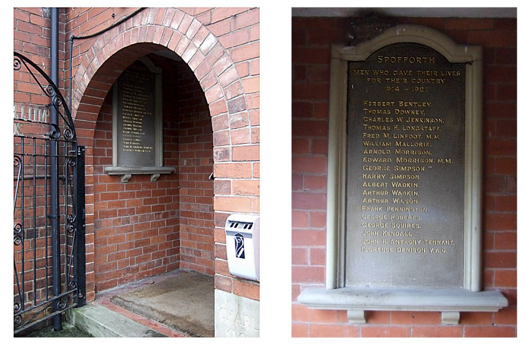 Spofforth Village Hall War Memorial