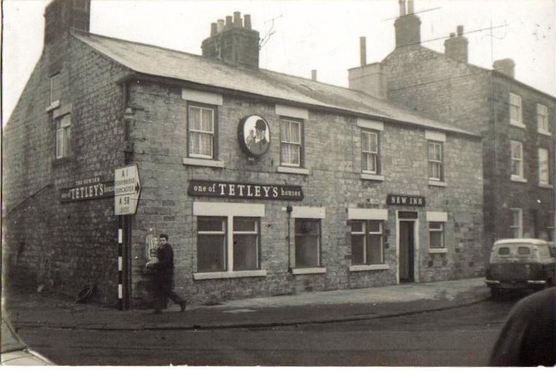 The New Inn at the end of Bank Street in the 1960s Copyright Wetherby Historical Society
