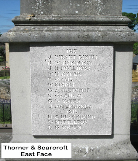Thorner & Scarcroft Roll of Honour 2