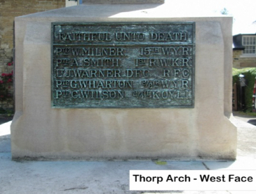 Thorp Arch War Memorial detail 3