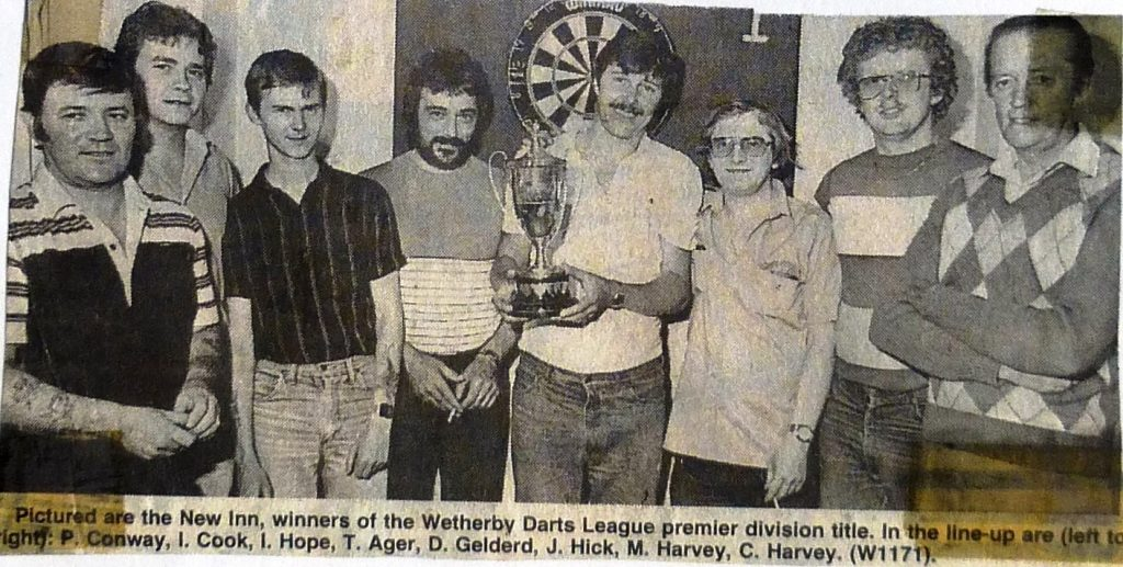 Wetherby Darts League Premier Division Winners 1984  Wetherby News
