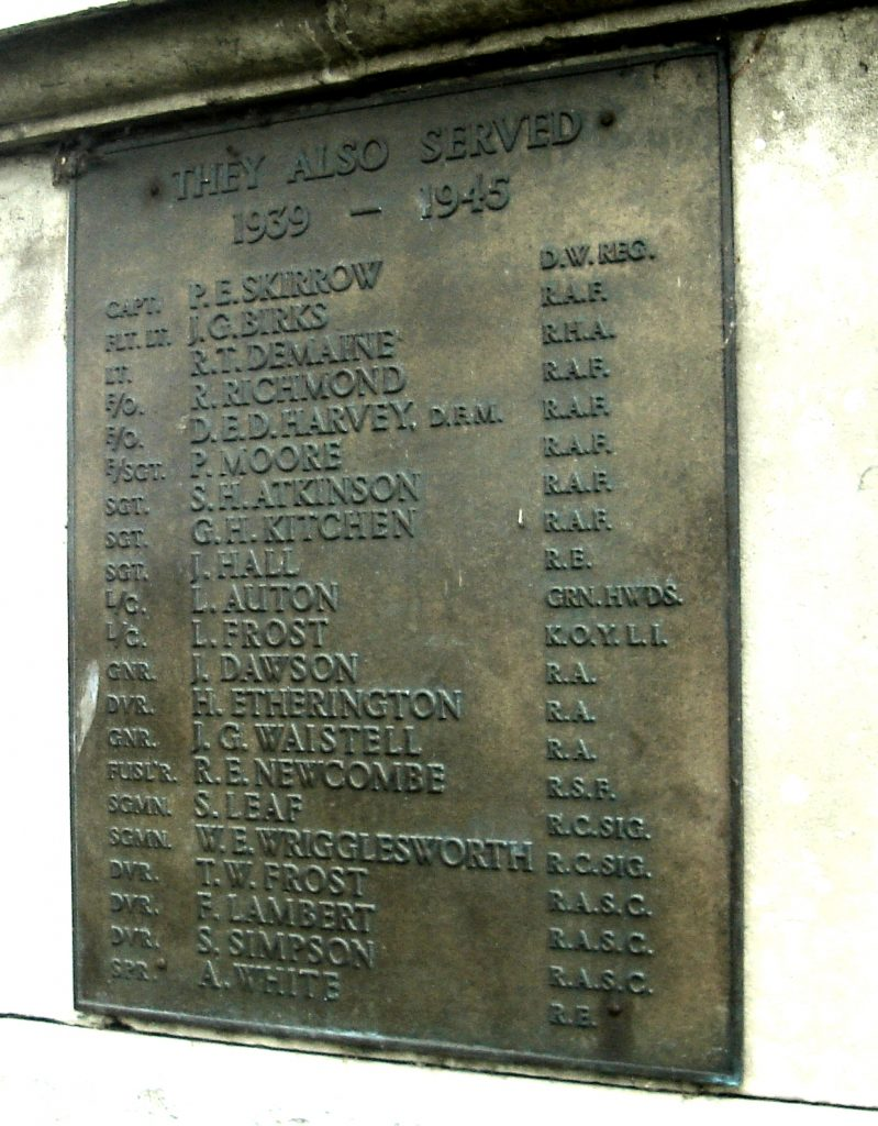 Wetherby Bridge Cenotaph detail 4