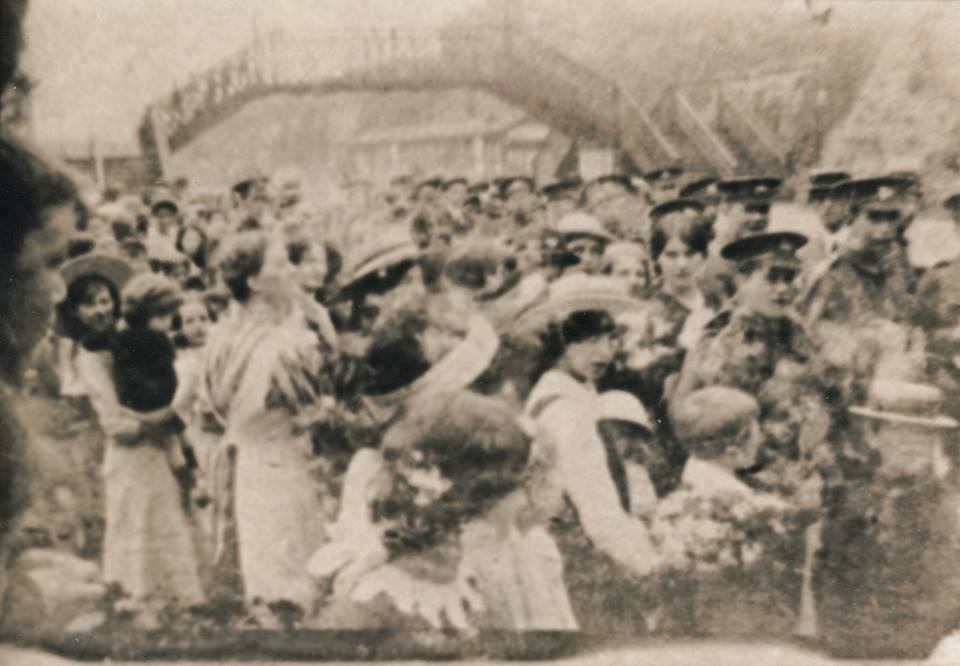 Wetherby Railway Station WW1  Troops saying goodbye to their families, many never to return.